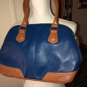 Handbags - Cute blue and tan bag